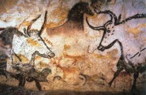 Cave painting at Lascaux, France.  Photo from www.vezerevalley.info