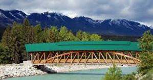The Kicking Horse Pedestrian Bridge. Image from: http://golden.inthekoots.com/2011/03/01/say-goodbye-to-the-fall-fair/