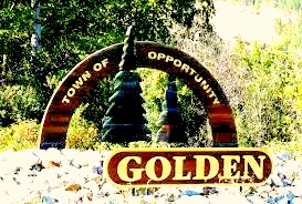 Welcome to Golden. Image via: http://www.panoramio.com/photo/60439258