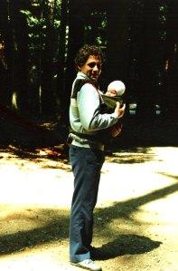 A photo of my dad and I taken in the late 80's in Stanley Park.