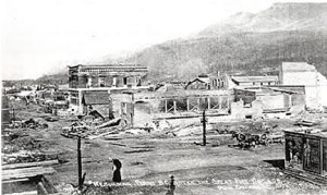 After the fire. Image from fernie.bclibrary.ca