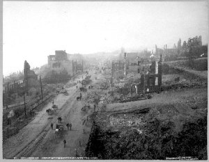 A Shot of the City Taken After the Fire of 1898.