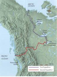 The Route of Alexander Mackenzie and company.