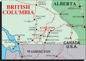 Map courtesy of: www.kamloops-info.com
