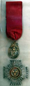 The Civil Star, awarded to  a Knight Commander of the Order of Bath.