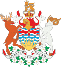 British Columbia's coat of arms.
