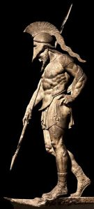 The Statue of an Ancient Greek warrior.  Image from Pinterest.