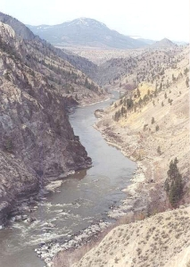 A View of the Fraser Canyon.