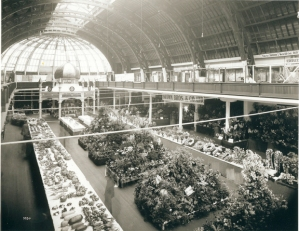 Inside the Exhibition/Industrial/Women's Building 1910. Image from windsorstar.com
