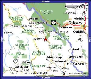 Invermere B.C. Map image from: www.nstarhw.ca