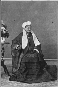 An image of the wife of James Douglas, taken in Victoria in 1857.