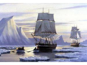 The Erebus and the Terror; the lost ships of the Franklin expedition. Image from www.ottawacitizen.com