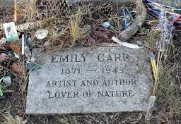 The gravestone of Emily Carr; image from victoriagridproject.ca