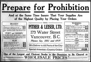 Prepare for Prohibition! Image from www.herbmuseum.ca