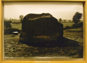 A historical photo of the Transformer Stone; image from ccca.concordia.ca