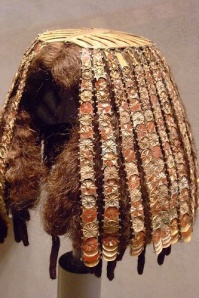 An Ancient Egyptian wig cover from around 4000 years BCE. Image from Pinterest http://www.pinterest.com/pin/71987294019362464/