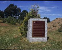The plaque designating the location as a National Historic Site; image from www.historicplaces.ca