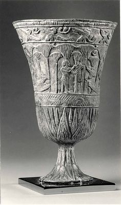 A Third Intermediate Period Dynasty Egyptian Chalice.