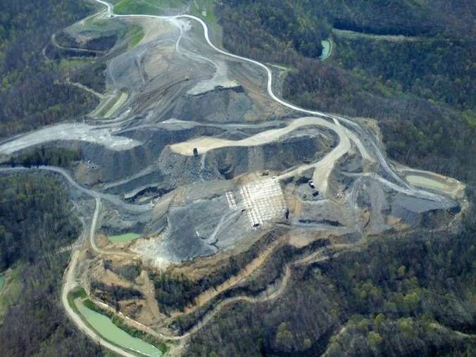 A look at what the building of a mine can do to the local environment. Picture from appvoices.org.