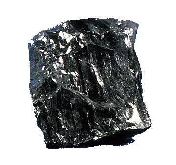 This is what coal looks like when people decide to make Photoshop improvements to rocks... Image from Wikipedia.