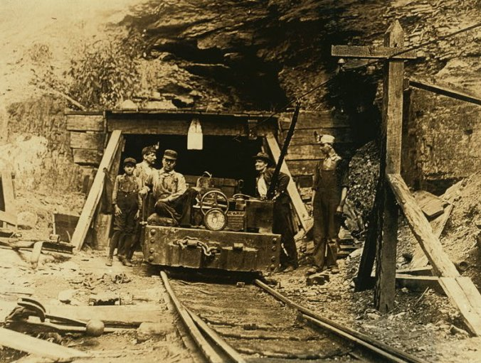 Coal miners from West Virginia in 1908. Image is from Wikipedia.